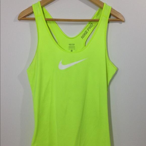 8fd6109d88 NIKE Pro Dri Fit Neon Green Workout Tank Top. M 5a962adbcaab4450a08a9f0d